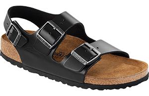 Milano soft footbed black amalfi leather sandals