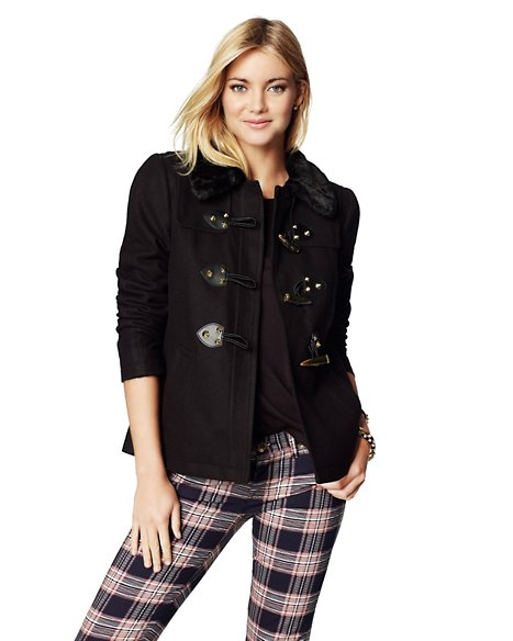 Wool Short Swing Coat - Tops - Juicy Couture