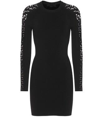 dress knitted dress black