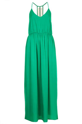 Jewel Green Beaded Back Maxi Dress- Topshop USA