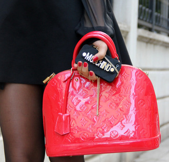 bag woman red bag red holiday gift