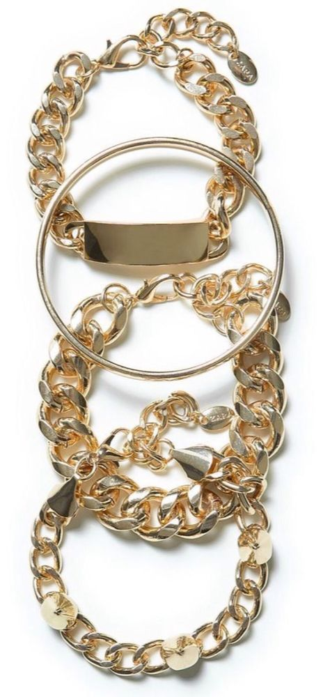 Zara BNWT Gold Bracelets A/W Collection *bloggers fav | eBay
