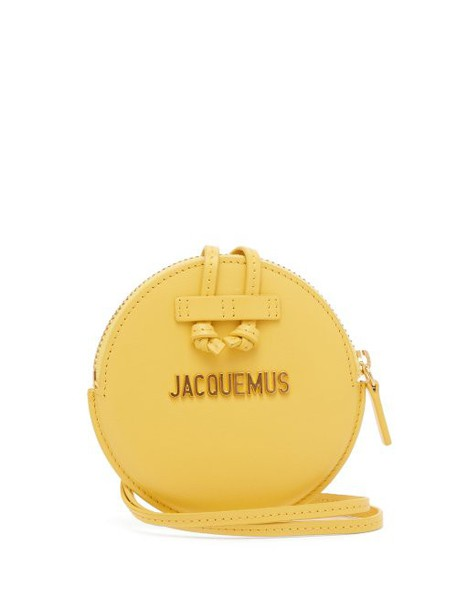 purse leather yellow bag