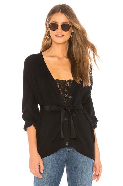 Joie Ferlinka Wrap Sweater in black