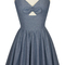 Trashy diva hottie mini dress | retro inspired dress | blue chambray