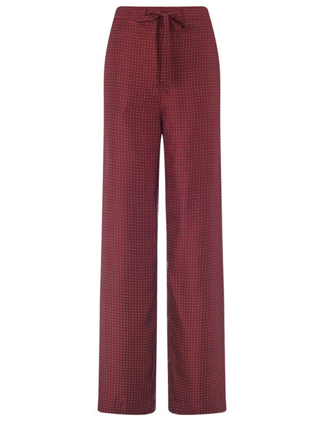 Rag & Bone pants silk burgundy red