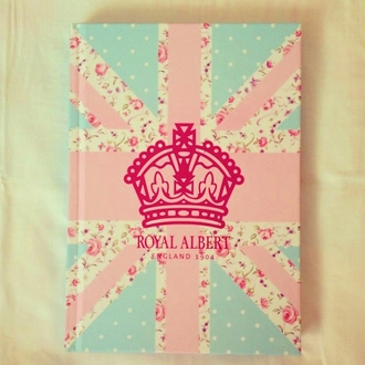 home accessory notebook union jack girly floral back to school