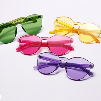 sunglasses eyewear purple yellow pink green summer