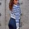 Royal blue crop sweater