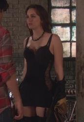 dress,blair waldorf,chemise,gossip girl,black,satin,silk,lingerie set
