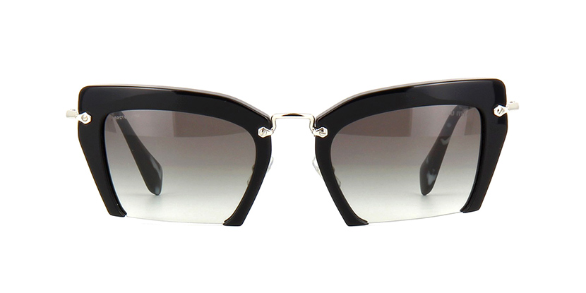 11ccf517d022 Miu Miu Rasoir MU 10QS 1AB0A7 Black Sunglasses