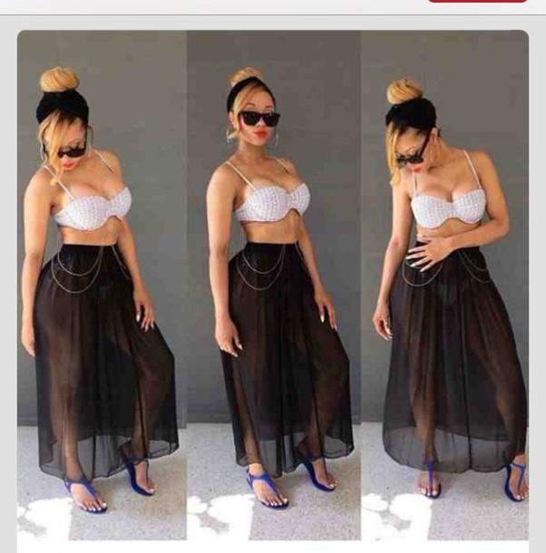9c09b51b60 skirt, swimwear, cover up, high waisted - Wheretoget