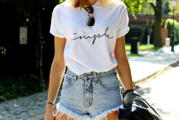 beauty fashion shopping blogger t-shirt jacket shoes sunglasses denim shorts