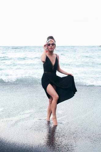 extra petite blogger swimwear sunglasses skirt maxi skirt cover up black swimwear one piece swimsuit