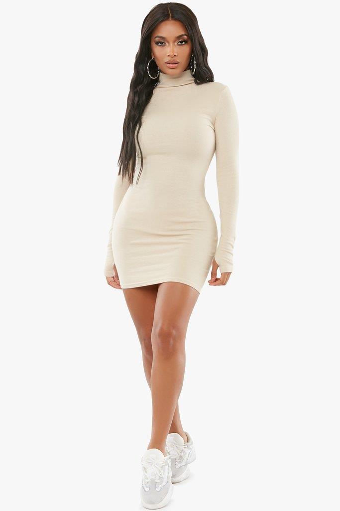 Feelin It Turtleneck Dress