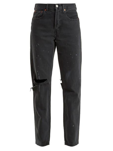RE/DONE ORIGINALS jeans high grunge black