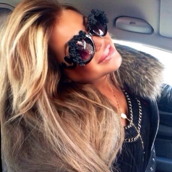 Life in black baroque sunglasses