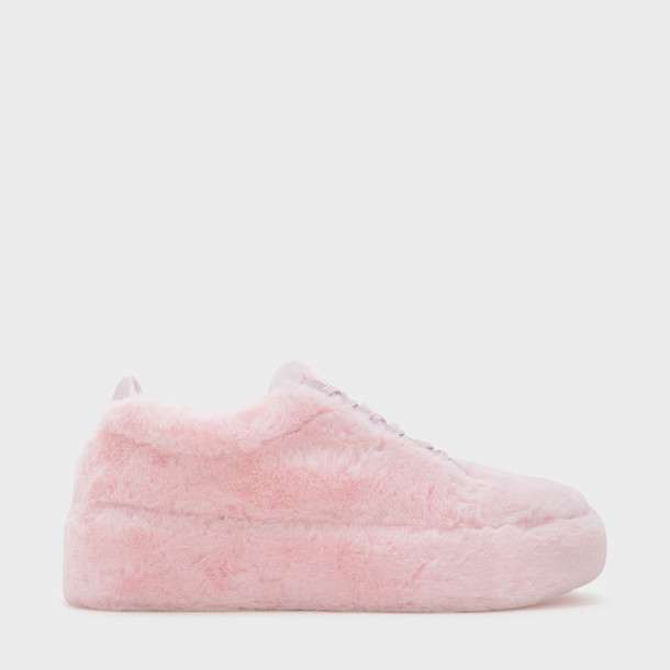 sneakers lace pink shoes
