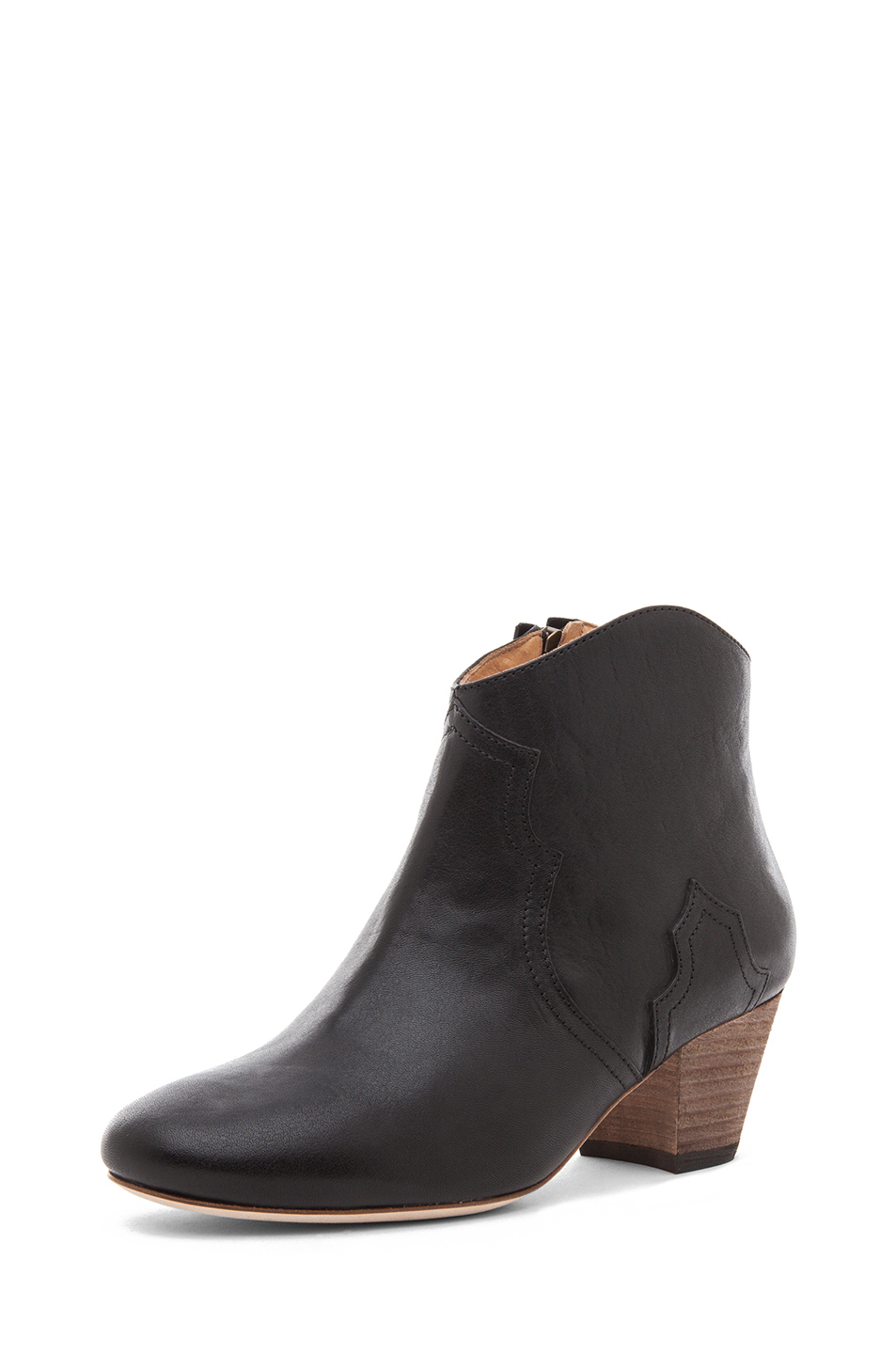 Isabel Marant|Dicker Calfskin Leather Boots in Black