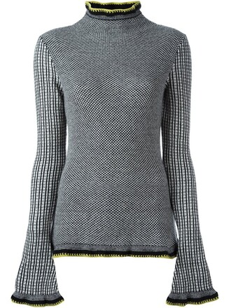 top knitted top black