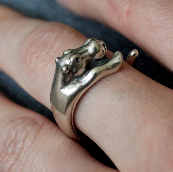 Sterling Silver Baby Hippopotamus Ring Adjustable by mrd74 on Etsy