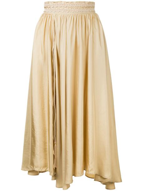 skirt pleated skirt pleated women brown