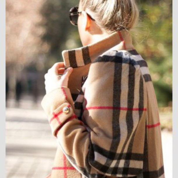 coat burberry sweater coat