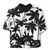 Palm Print Midriff Shirt | Pariscoming