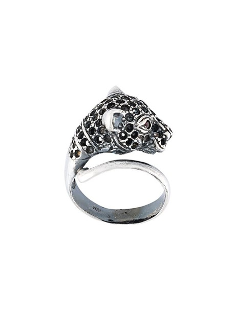 metallic women ring silver jewels