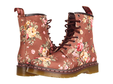Dr. martens 1460 w taupe victorian flowers