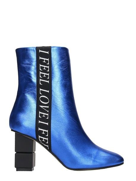 Marc Ellis metal love leather blue shoes