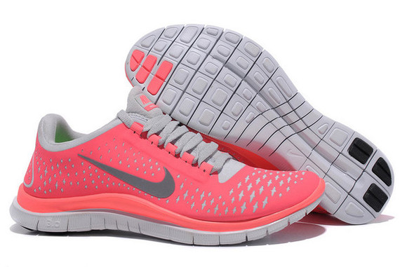 shoes free running nike free run 3.0 nike free run nike running shoes coral pink pink and white sports shoes running shoes nike shoes nike sneakers sneakers nike fashion fashion is a playground