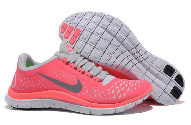huge discount cf673 c164d shoes free running nike free run 3.0 nike free run nike running shoes coral  pink pink