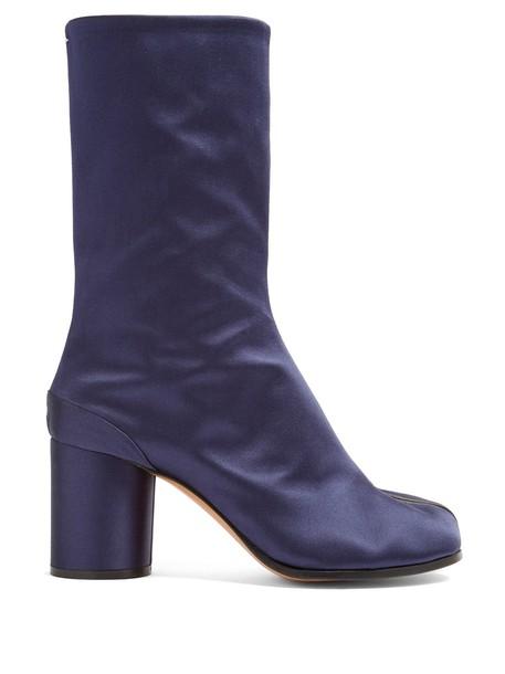 MAISON MARGIELA ankle boots satin navy shoes