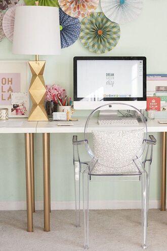home accessory pillow chair desk lamp gold plastic hipster metallic home decor metallic lamp