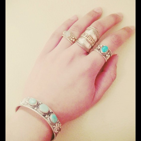 vintage jewels pretty silver style ring ariana grande kendall jenner kylie jenner fashion sexy hipster cute rings jewlery gorgeous beautiful hot obsessed kardashians jenners fashionable stylish gems antique trendy sterling silver ring turquoise turquoise jewelry turquoise ring turquoise bracelet pretty little liars selena gomez sterling silver
