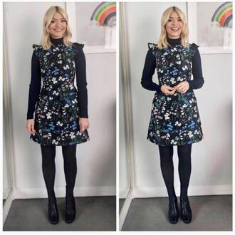 dress floral dress jacquard holly willoughby