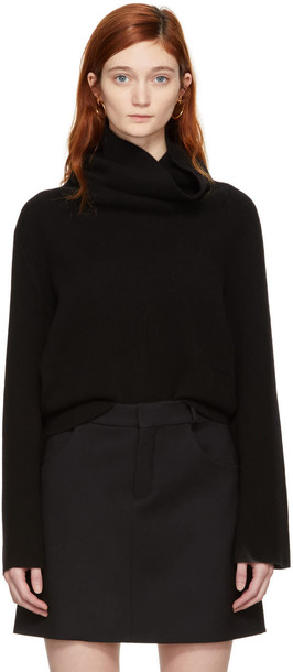 turtleneck black sweater