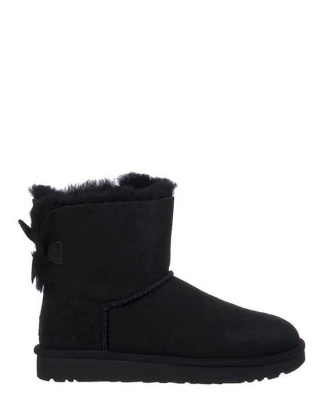 Ugg boot bow mini black shoes