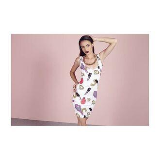 dress missguided nicki minaj bodycon dress mini dress print