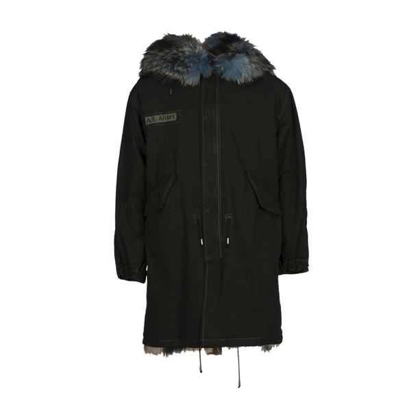 As65 parka fur black coat