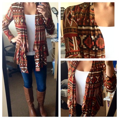 Stretch aztec print cardigan · shopericajade · online store powered by storenvy