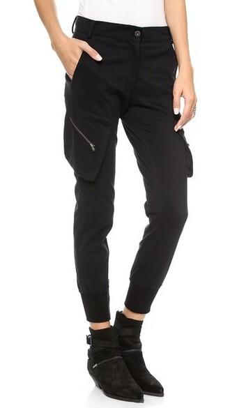 pants cargo pants fit black
