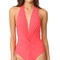 Karla colletto low back plunge swimsuit - begonia