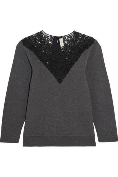 sweatshirt dark lace cotton sweater