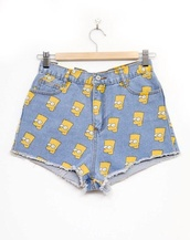 shorts,bart simpson,the simpsons