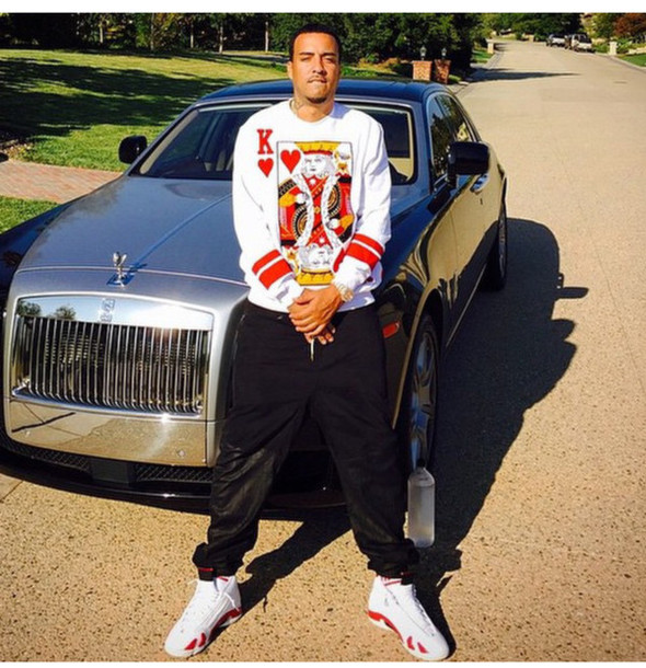White Sweater Heart Menswear French Montana King Of Hearts T