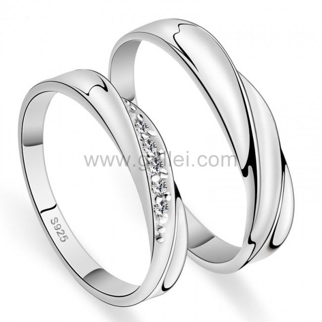 d4cfe3dbd0 Custom Name 925 Sterling Silver Men and Women Promise Rings Set for two Personalized  Couples Gifts ...