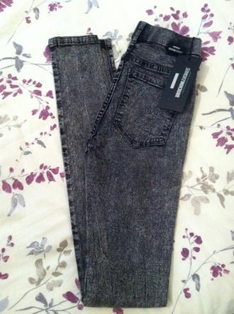 jeans dr denim plenty acid wash skinny jeans tight jeans comfy high waist plenty of acid light grey high waisted jeans