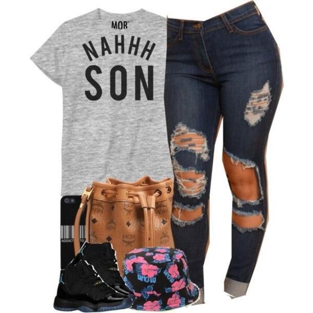 t-shirt jeans pants demin t-shirt levi distressed jeans shirt grey grey shirt grey t-shirt slang